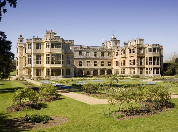 AUDLEY END HOUSE AND GARDENS, Saffron Walden, Essex. The East front and parterre gardens