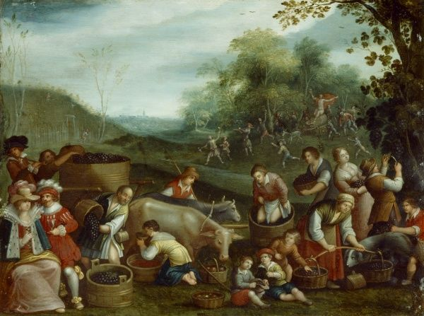 "BRODSWORTH HALL, South Yorkshire. "" Autumn "" by circle of Louis De Caullery (active 1590-1620). Season"
