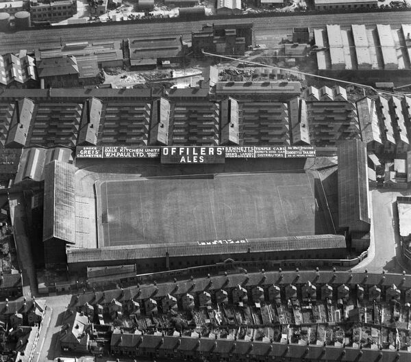 The Baseball Ground, once home of Derby County Football Club. Aerial view by Aeropictorial. September 1952. Aerofilms Collection