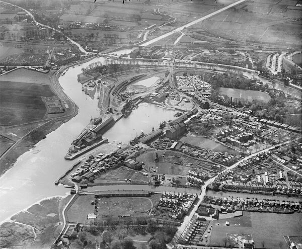 Boston Dock and environs, Boston, Lincolnshire. Photographed by Aerofilms Ltd in May 1930