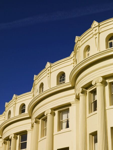 BRUNSWICK SQUARE, Hove, Brighton, East Sussex. Exterior detail, west elevation