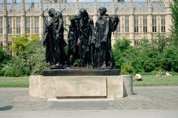 Statuary group sculpted by Auguste Rodin and sited in Victoria Gardens, Westminster. IoE 207427