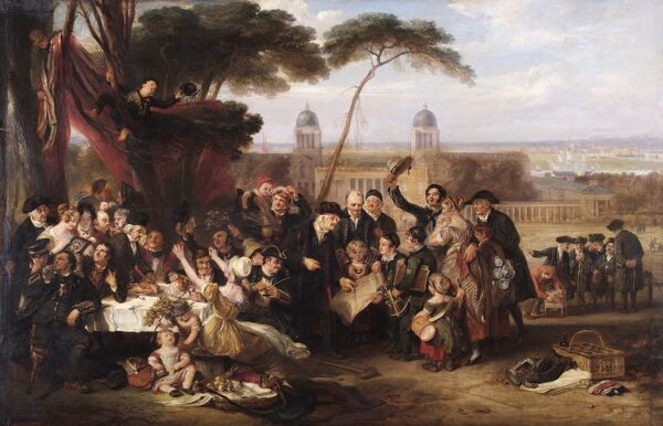 "APSLEY HOUSE, London. "" The Greenwich Pensioners Commemorating Trafalgar"" 1841 by John BURNET (1784-1868)"