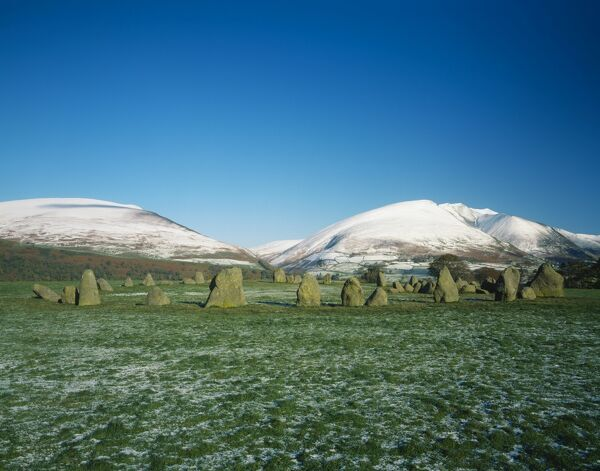 CASTLERIGG STONE CIRCLE, Cumbria. General view from the south west