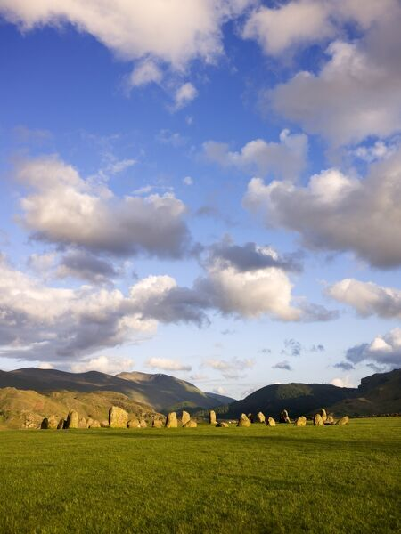 CASTLERIGG STONE CIRCLE, Cumbria. General view of the stone circle showing the fells in the background