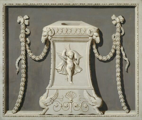 AUDLEY END HOUSE, Essex. Chimney board by Biagio Rebecca (c.1735-1808)