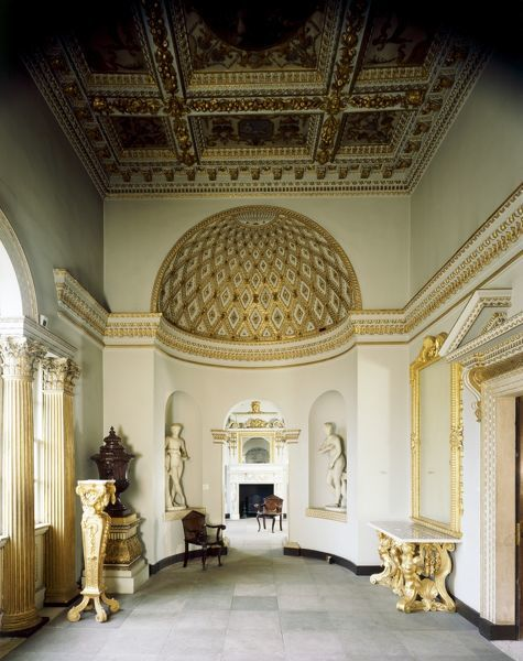 CHISWICK HOUSE, London. Interior view of the Gallery looking towards the Octagonal Room