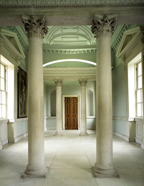 CHISWICK HOUSE, Hounslow, London. Interior view of the Palladian style first floor link building