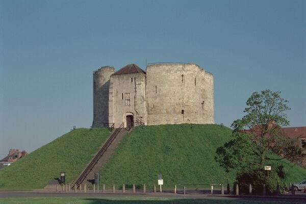 Cliffords Tower. Grade I listed castle keep in York, North Yorkshire. IoE 462999