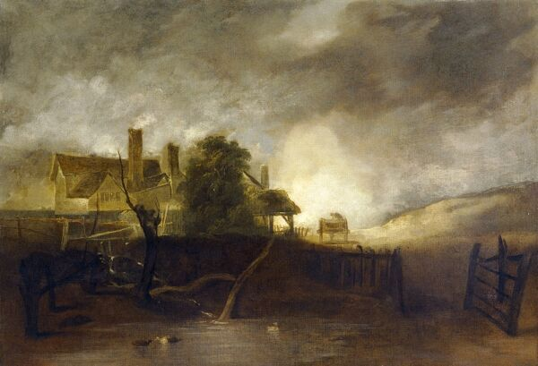 "ELTHAM PALACE, London. ""The Lime Kiln"" c1805/6 by John CROME (1768-1821). Purchased with support from the National Art Collections Fund"