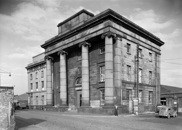 Curzon Street Station, Curzon Street, Birmingham, West Midlands. View from the south-west. Curzon Street Station was built by Philip Hardwick in 1838 as the original terminus of the London to Birmingham railway. Photographed by Ronald Braybrook