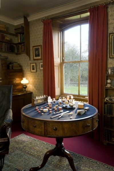 DOWN HOUSE, Kent. Interior view. View of the table found in the Old Study
