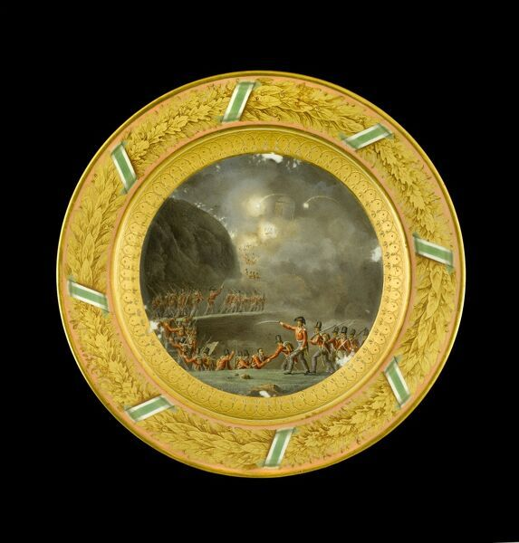 APSLEY HOUSE, London. Dessert plate from the Duke of Wellington's Saxon Service, made at Meissen in 1818
