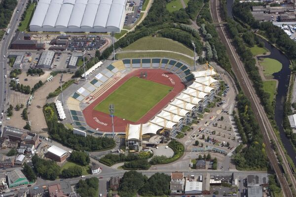 DON VALLEY STADIUM, Sheffield. Aerial view