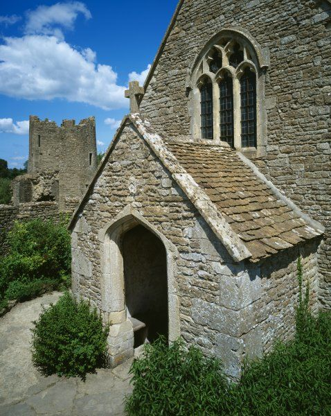 FARLEIGH HUNGERFORD CASTLE, Somerset. Exterior view of the chapel