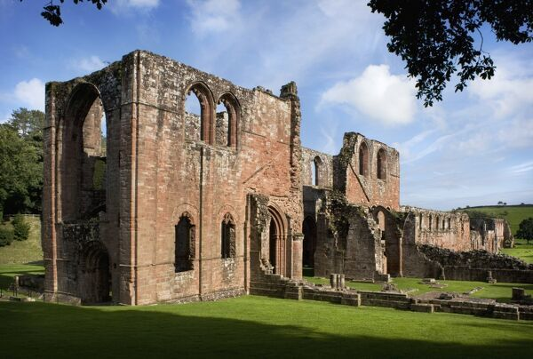 FURNESS ABBEY, Cumbria. View of the transepts from the west