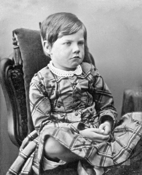 DOWN HOUSE, Kent. Daguerreotype photograph of George Darwin, aged 6 years, in 1851