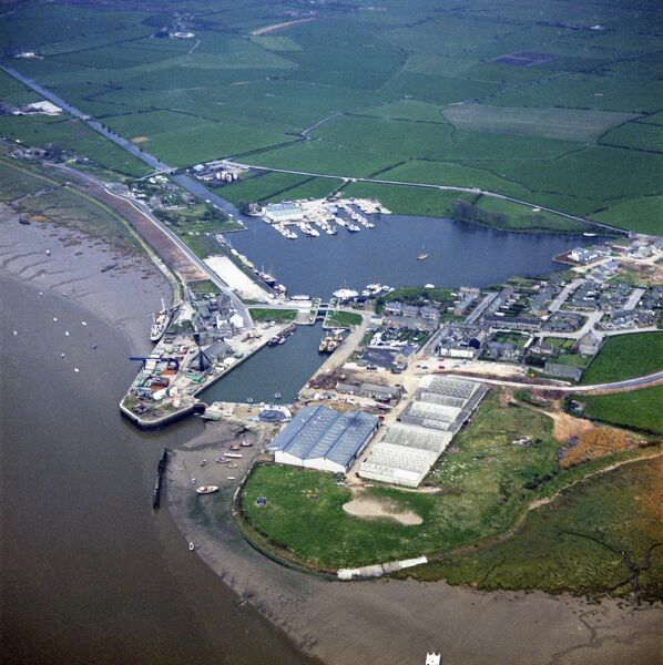 Glasson Dock, Thurnham, Lancashire. Photographed by Aerofilms Ltd in May 1972
