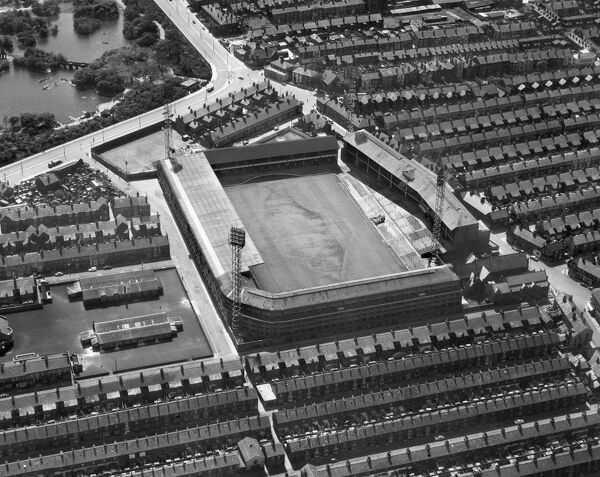 GOODISON PARK STADIUM, Liverpool. Aerial view of the home of Everton Football Club since 1892. Photographed in 1966. Goodison Park played host to Group 3 matches at the 1966 World Cup. Aerofilms Collection (see Links)