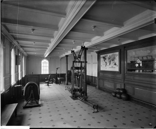 The gymnasium, RMS Olympic, White Star Line, 1920-21