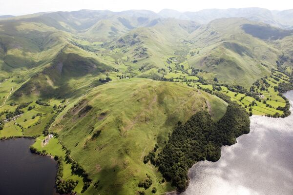 Lake District, Cumbria. View from Ullswater over Hallin Fell towards Martindale Common. Photographed in June 2014