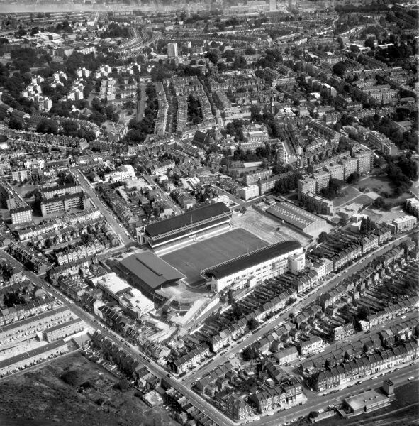 HIGHBURY STADIUM, London. Aerial view of the home of Arsenal Football Club since 1913. Photographed in 1972. Aerofilms Collection (see Links)