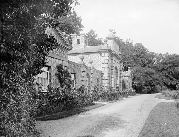 Highclere Castle, Lake House, Highclere, Hampshire. The front of the building, built as a summer house or fishing pavilion by Milford Lake. Photographed by Henry Taunt, late 19th century