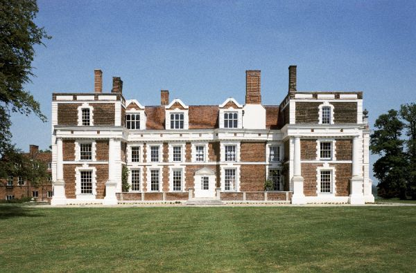 HILL HALL, Essex. After restoration, May 1998. The south facade of the Elizabethan mansion house