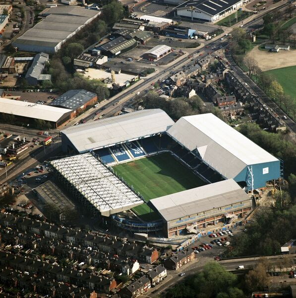 HILLSBOROUGH Stadium, Sheffield. Aerial view of the home of Sheffield Wednesday Football Club