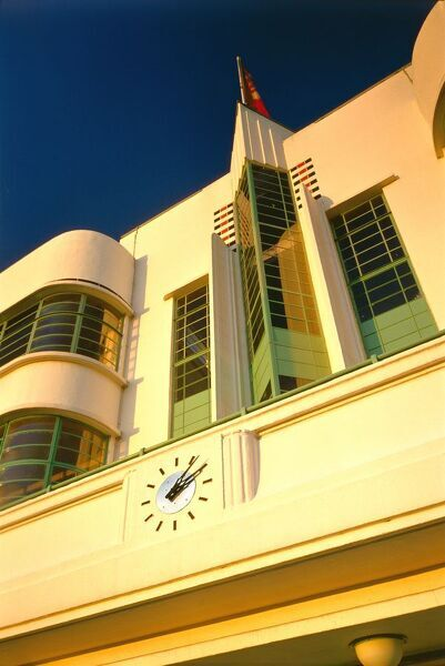 THE HOOVER BUILDING, Western Avenue, Perivale, London. Exterior detail