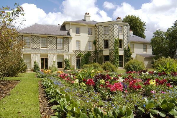 Down House N070847. DOWN HOUSE, Downe, Kent. Exterior view of the house and garden