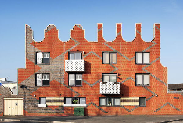Islington Square, New Islington, Ancoats, Manchester. General view of housing by FAT Architecture, 2006