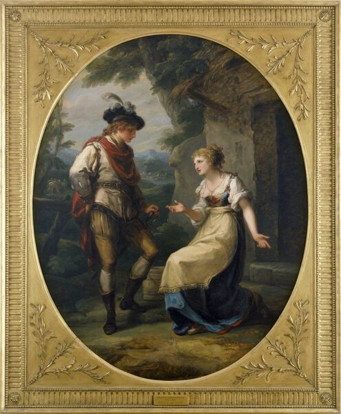 KENWOOD HOUSE, THE IVEAGH BEQUEST, London. 'Gualtherius and Griselda' by Angelica KAUFFMANN RA (1741-1807). IBK 974