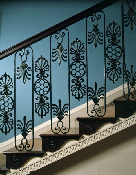 KENWOOD HOUSE, London. Interior detail of the balustrade on the Great Stairs, 1989