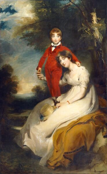 "BRODSWORTH HALL, South Yorkshire. "" Mrs Charles Thellusson with her Son Charles "" c1804 by Sir Thomas Lawrence (1769-1830)"