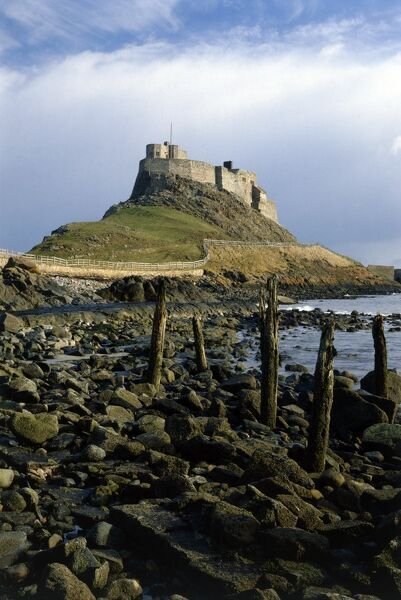 LINDISFARNE CASTLE, Northumberland. General view from the West