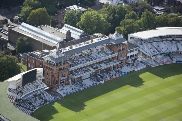 "LORDS CRICKET GROUND, St Johns Wood, London. Founded on this site in 1814 the ""Home of Cricket"" is owned by the Marylebone Cricket Club (MCC), and is host to Middlesex County Cricket and the England and Wales Cricket Board. The Pavilion"