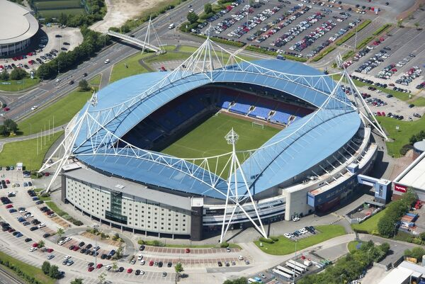 MACRON STADIUM, Horwich, Bolton. Aerial view 2017. Home of Bolton Wanderers Football Club