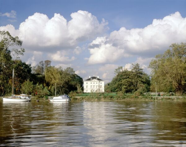 MARBLE HILL HOUSE, Twickenham, Richmond, Middlesex. View of the house from the River Thames