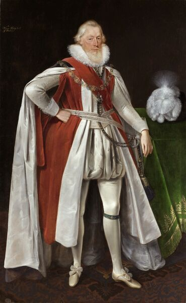 KENWOOD HOUSE, SUFFOLK COLLECTION, London. 'William Knollys, 1st Earl of Banbury' by Daniel MYTENS (c.1590- 1647)
