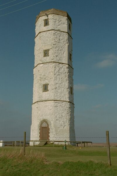 The Old Lighthouse. The imposing tower at Flamborough, East Yorkshire IoE 166822