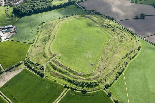 Old Oswestry Hill Fort, Shropshire. Photographed in June 2015