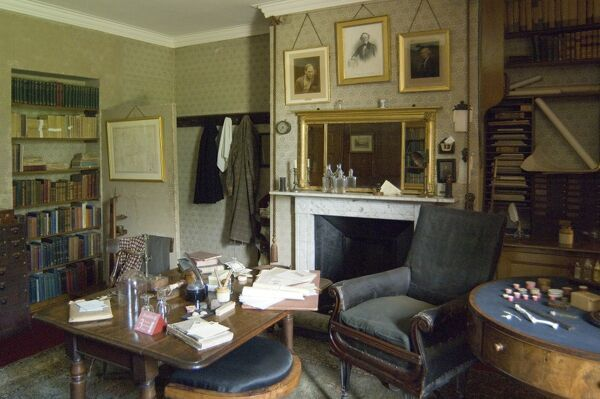 DOWN HOUSE, Downe, Kent. The Old Study as used by Charles Darwin