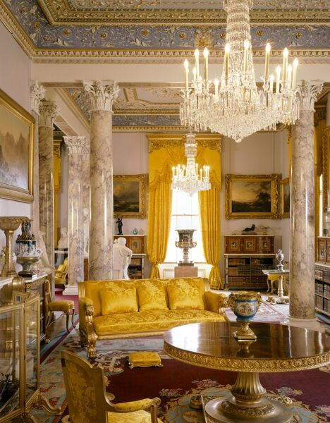 OSBORNE HOUSE, Isle of Wight. Interior view. The Drawing Room. Some items shown maybe on loan from the Royal Collection