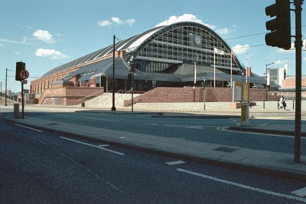 G-Mex. Railway station, now exhibition hall and car park, Manchester. IoE 458616