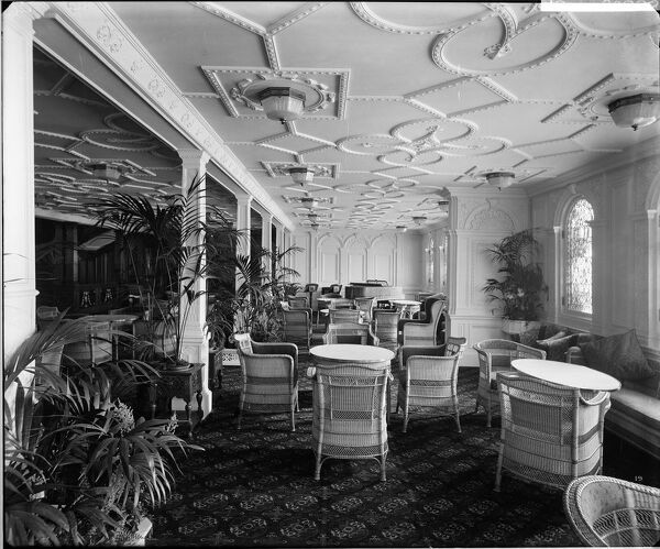The reception room, RMS Olympic, White Star Line, 1920-21