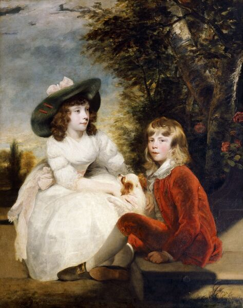 "KENWOOD HOUSE, THE IVEAGH BEQUEST, London. ""The Children of John Julius Angerstein"" c1782-3 by Sir Joshua REYNOLDS (1723-92)"