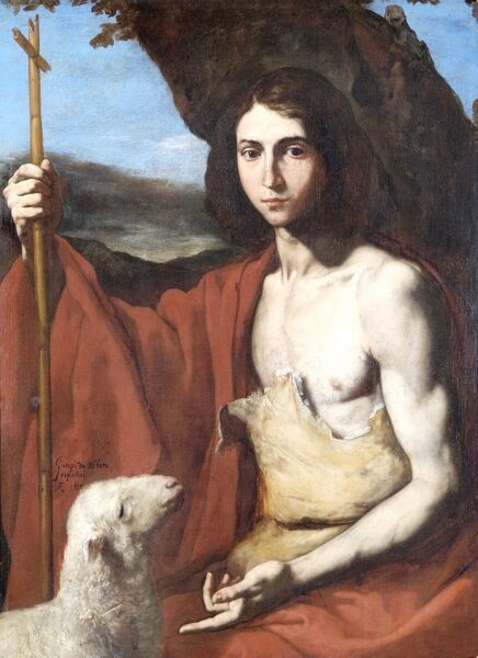 "APSLEY HOUSE, London. ""St. John The Baptist"" 1650 by Jusepe de RIBERA, Lo Spangoletto (1591-1652). WM 1627-1948. Spanish Royal Collection, captured at Vitoria 1813"