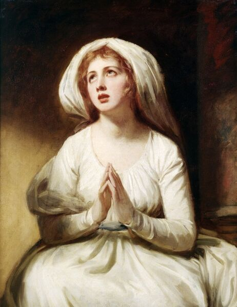 "KENWOOD HOUSE, THE IVEAGH BEQUEST, London. ""Lady Hamilton at Prayer"" c1782-86 by ROMNEY George (1734-1802) IBK 936"