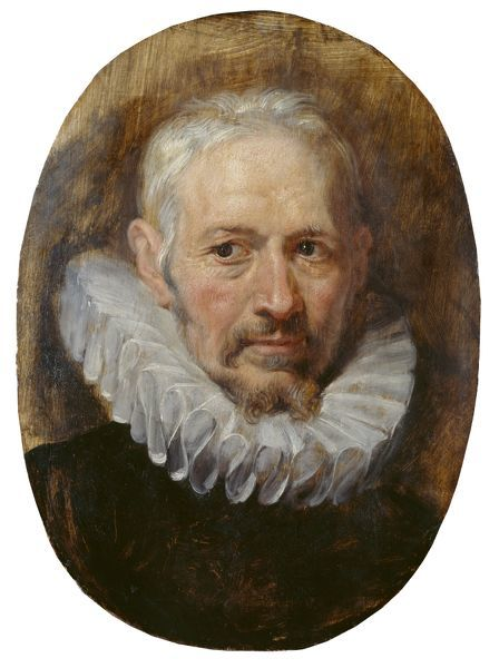 "APSLEY HOUSE, London. ""Head of an Old Man"" by Sir Peter Paul Rubens (1577-1640). Photographed after treatment"